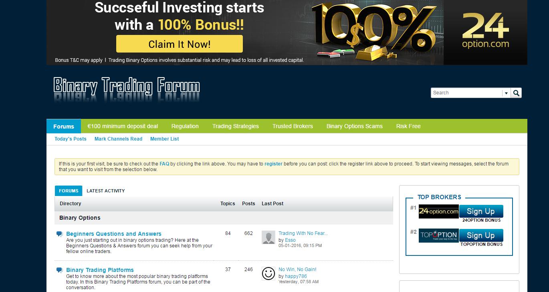 Best binary options forums csgo betting reddit technology