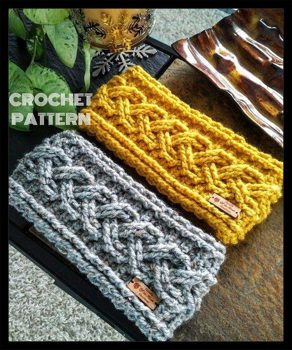Crochet Headband Pattern, Crochet Earwar - Diy Crafts
