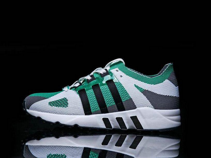 the latest b053a 9e201 Adidas EQT Guidance Primeknit Grey Core Black Sub Green S79127 Shoe