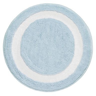 Mdesign Microfiber Bath Mat Long Bathroom Rug 24 Diameter