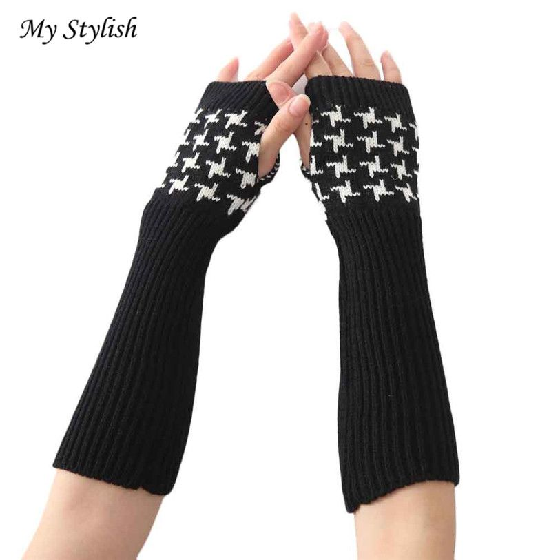 >> Click to Buy << Hot 2017 Women Fashion Knitted Arm Sleeve Fingerless Winter Gloves Soft Warm Mitten Accessories High Quality Brand New Jan 4 #Affiliate