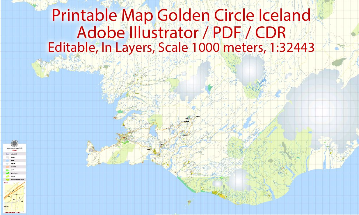 Golden Circle Map Iceland 01 base map Scale 1:32443, editable ... on honduras road map pdf, switzerland road map pdf, new zealand road map pdf, mexico road map pdf, france road map pdf, zimbabwe road map pdf, ecuador road map pdf, costa rica road map pdf,
