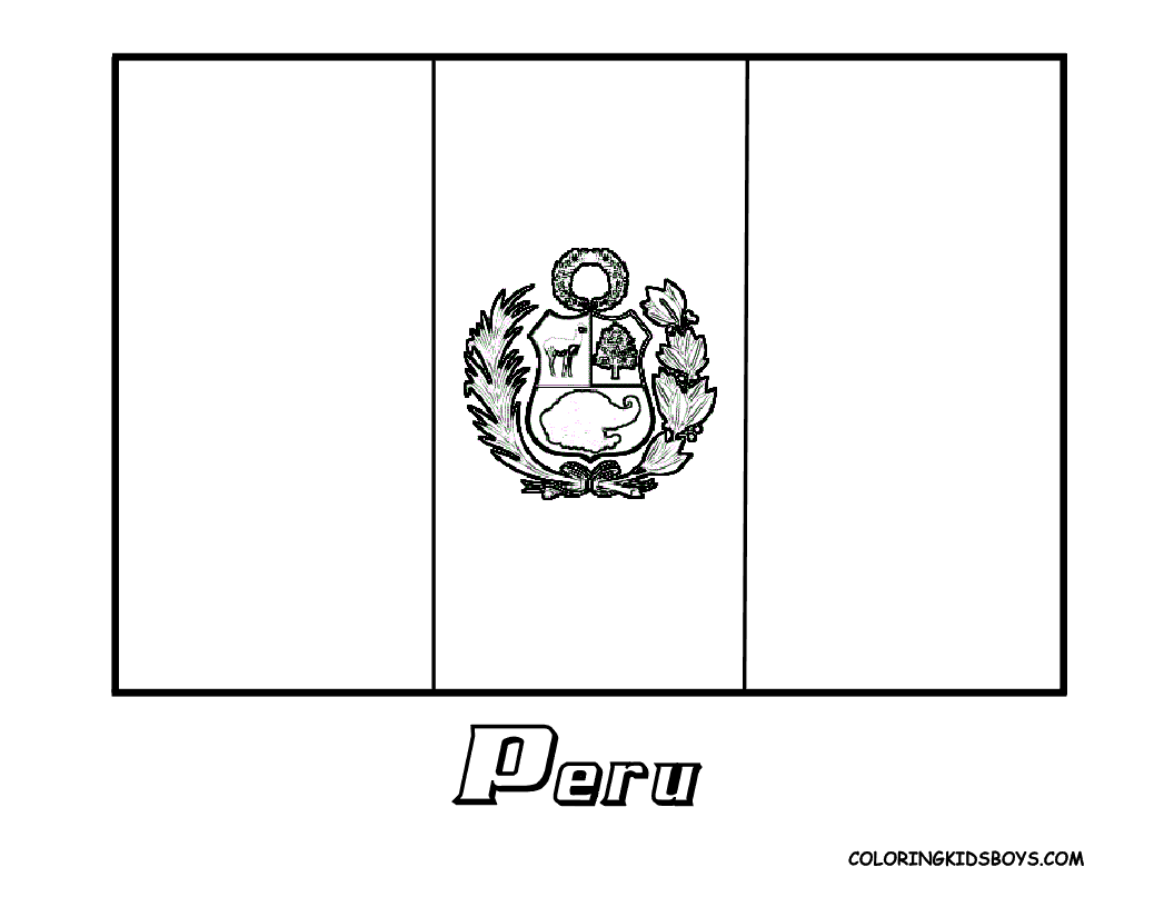 Download Or Print This Amazing Coloring Page Peru Flag