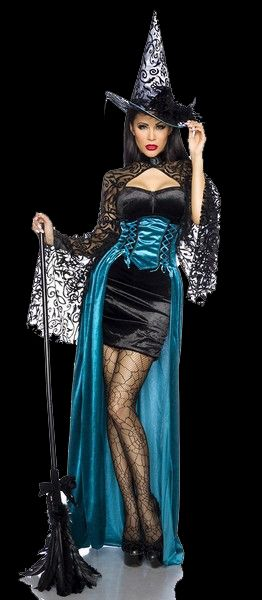 Turquoise Witch Halloween Fancy Dress Costume. Short velvet dress with attached wide sleeves plus separate long corset cape plus hat. Bat u0026 Boo Ball ...  sc 1 st  Pinterest & Turquoise Witch Halloween Fancy Dress Costume. Short velvet dress ...