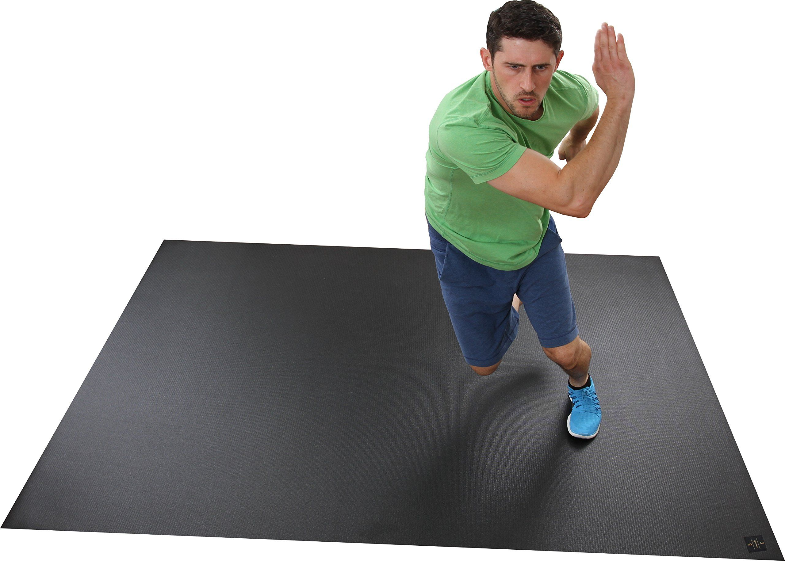 Extra Large Exercise Mat X NEW MATERIAL Thicker Odorless Fitness For Home Gyms Or Living Room Workouts Ideal Cardiovascular