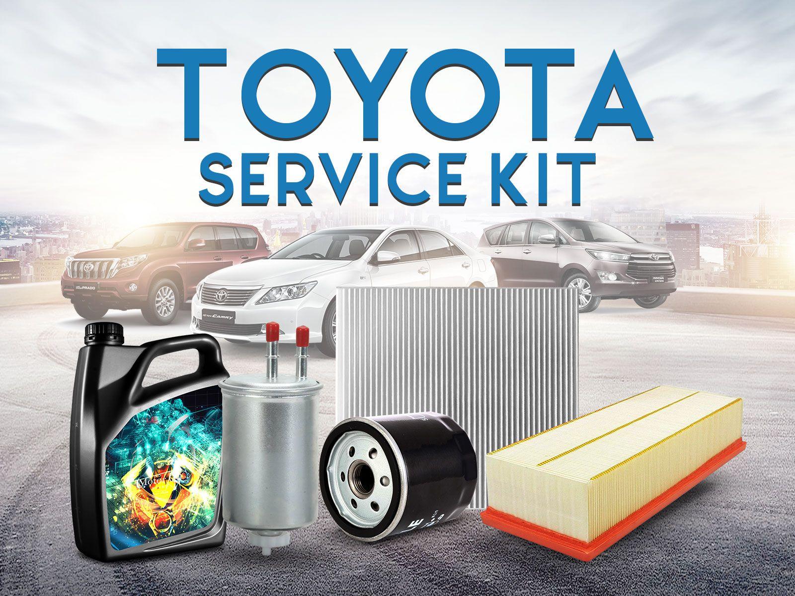 Toyota Car Service Kit Honda service, Service kits, Toyota
