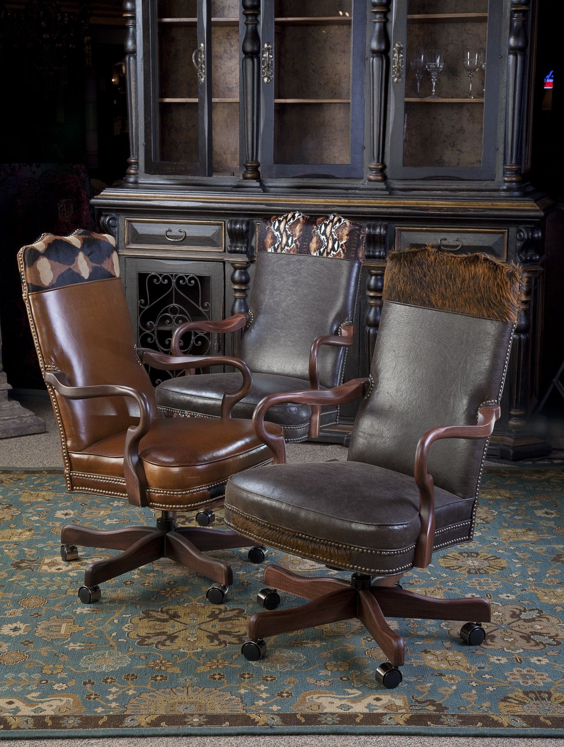 Nice Executive Chairs With Hair On Hide Accents. Brumbaughu0027s Fine Home  Furnishings.