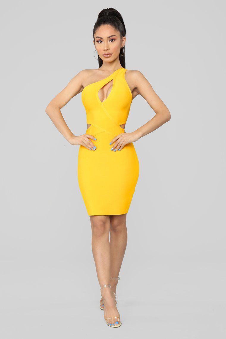 Holla At Me Bandage Dress Yellow Yellow Bandage Dresses Mini Dress Yellow Dress [ 1140 x 760 Pixel ]