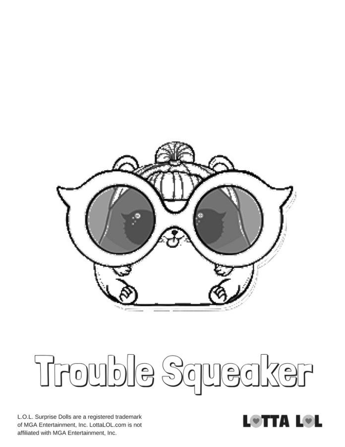 Trouble Squeaker Coloring Page Lotta Lol 3