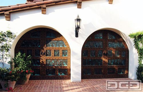 Santa Barbara Style Garage Doors Spanish Colonial Mission Architectural Door Traditional Garage Doors Garage Door Design Spanish Style Homes Spanish Style