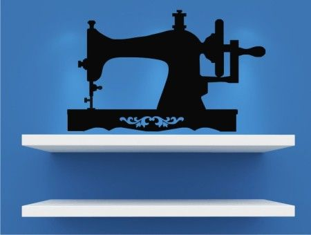 Vintage Sewing Machine- Wall Decal