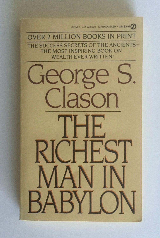Paperback Book The Richest Man In Babylon Vintage Signet Etsy Paperback Books Books Rich Man