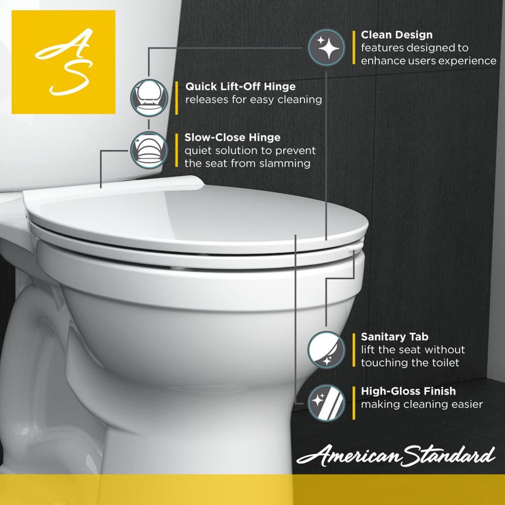 American Standard Fluent Elongated Slow Closed Front Toilet Seat