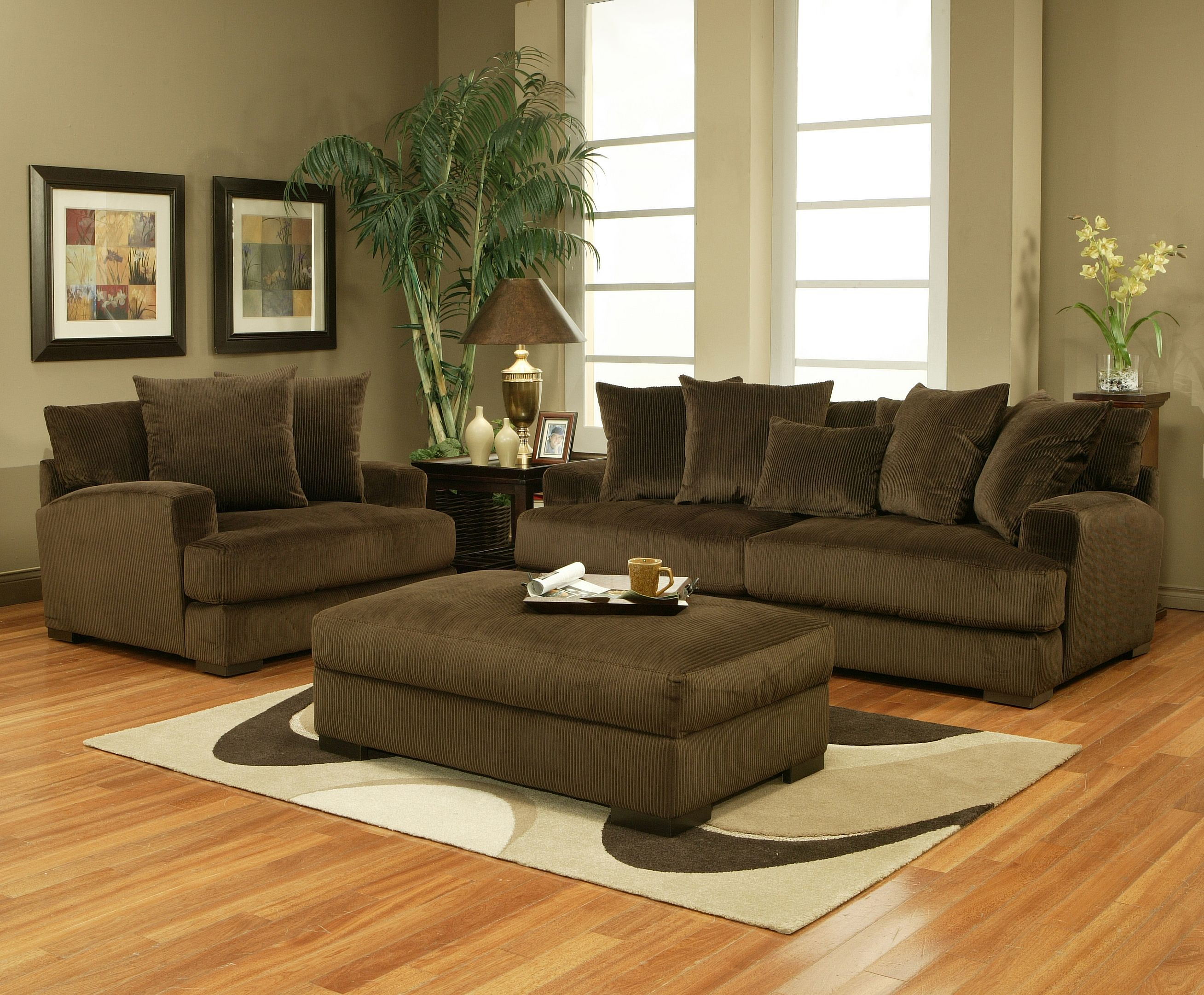 Carlin Sofa loveseat chair & ottoman as well as multiple