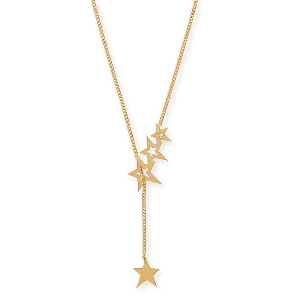 Jennifer Zeuner Lake Star Lariat Necklace with Diamond (€280) ❤ liked on Polyvore featuring jewelry, necklaces, gold, 18 karat gold jewelry, diamond jewellery, 18k necklace, jennifer zeuner necklace and star jewelry
