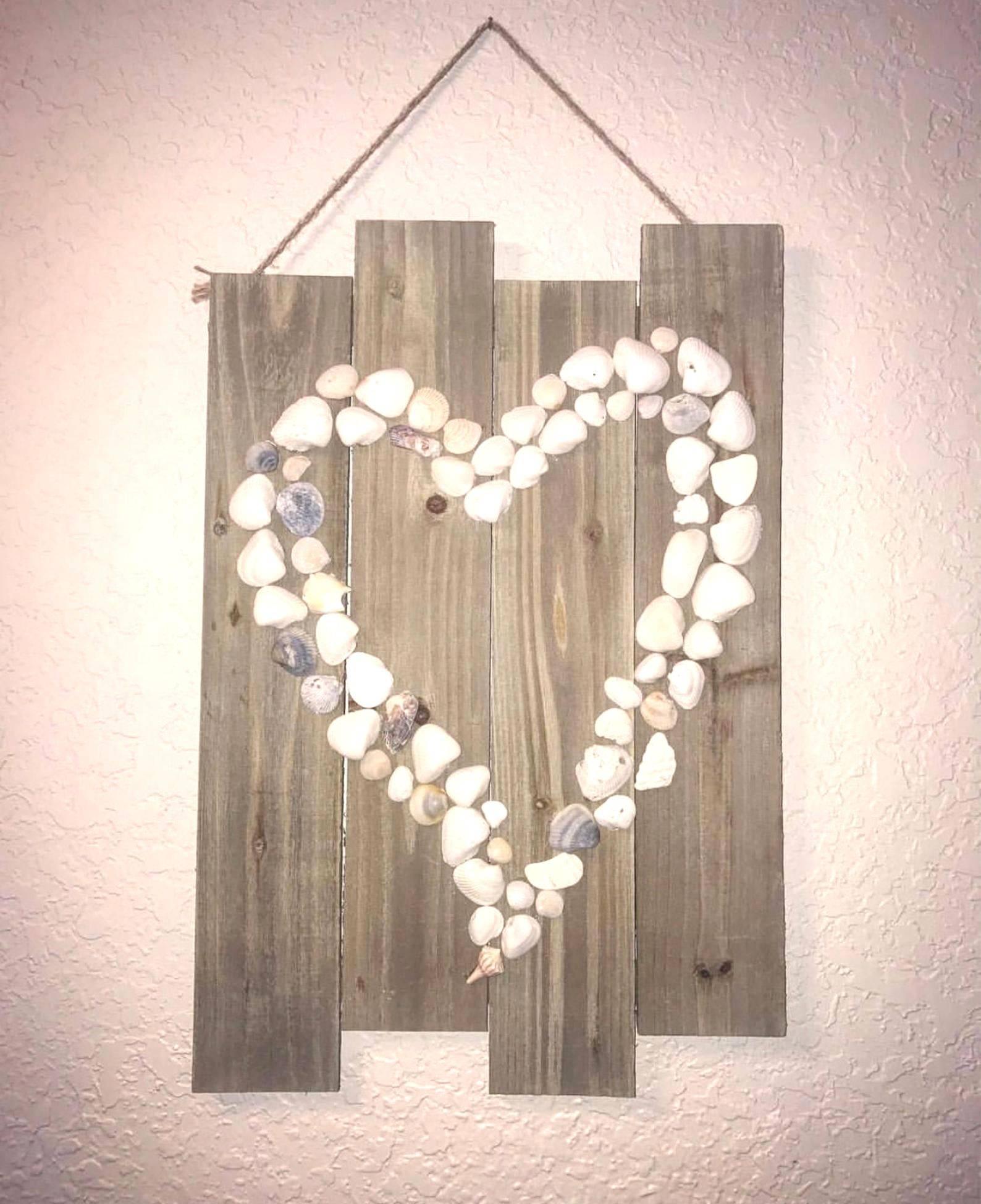 Driftwood In Olive Wall Clock In 2020 Shell Crafts Diy Seashell Wall Decor Sea Shell Decor