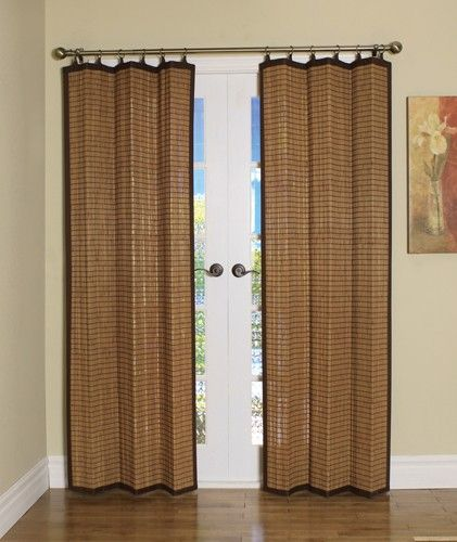 Curtain Bath Outlet Colonial Bamboo Ring Top Curtain Panel Bamboo Curtains Sliding Glass Door Curtains Patio Door Coverings
