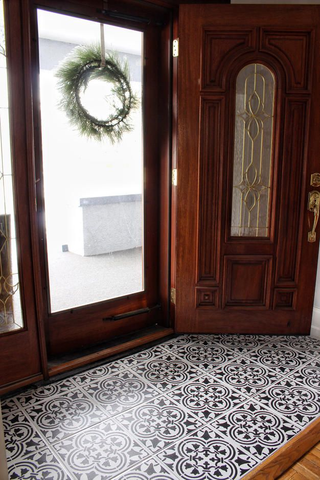 Painted Tile Tutorial Entry Way Makeover Part 2 Aratari At Home