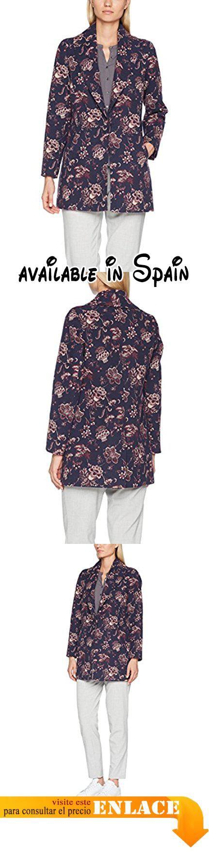 B075TF4ZBN : Trucco - Abrigo para mujer color azul oscuro talla M.