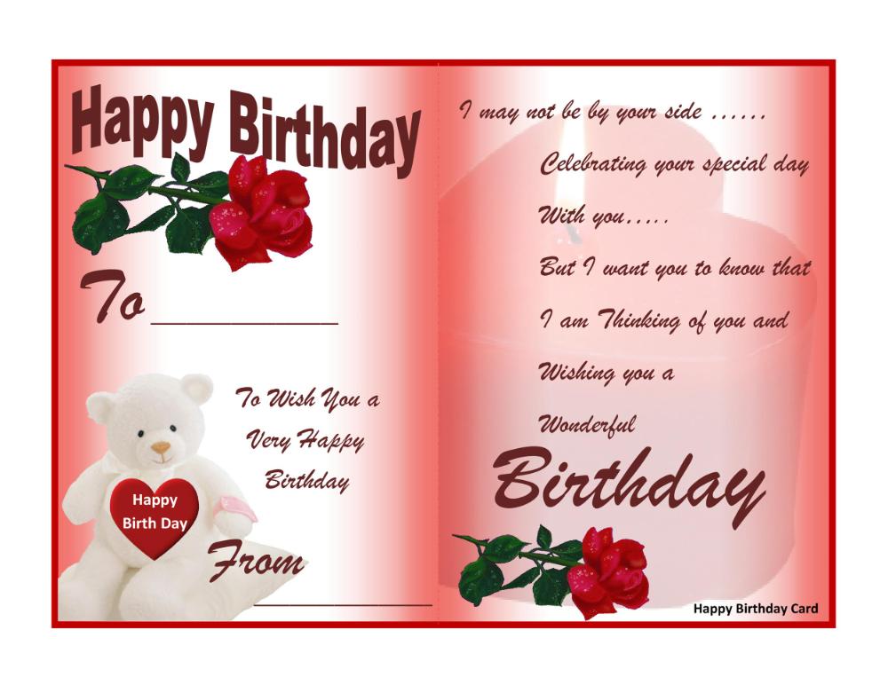 Free Printable Birthday Cards For Wife Google Search Free Birthday Card Happy Birthday Cards Free Birthday Stuff