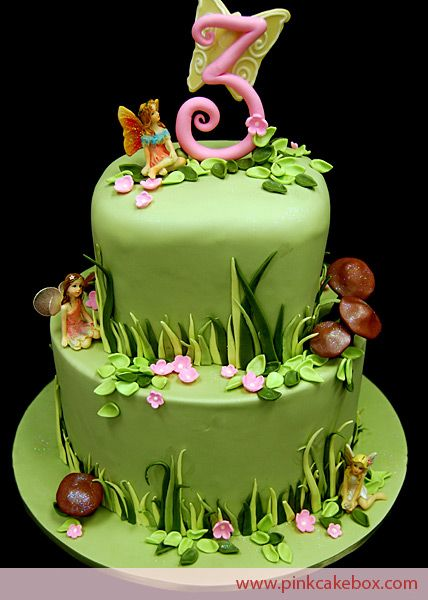 Garden Fairy Themed 3rd Birthday Cake Celebration Cakes Fairy