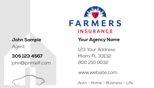 Farmers Insurance Business Cards Farmers Insurance Business Insurance Free Business Card Templates