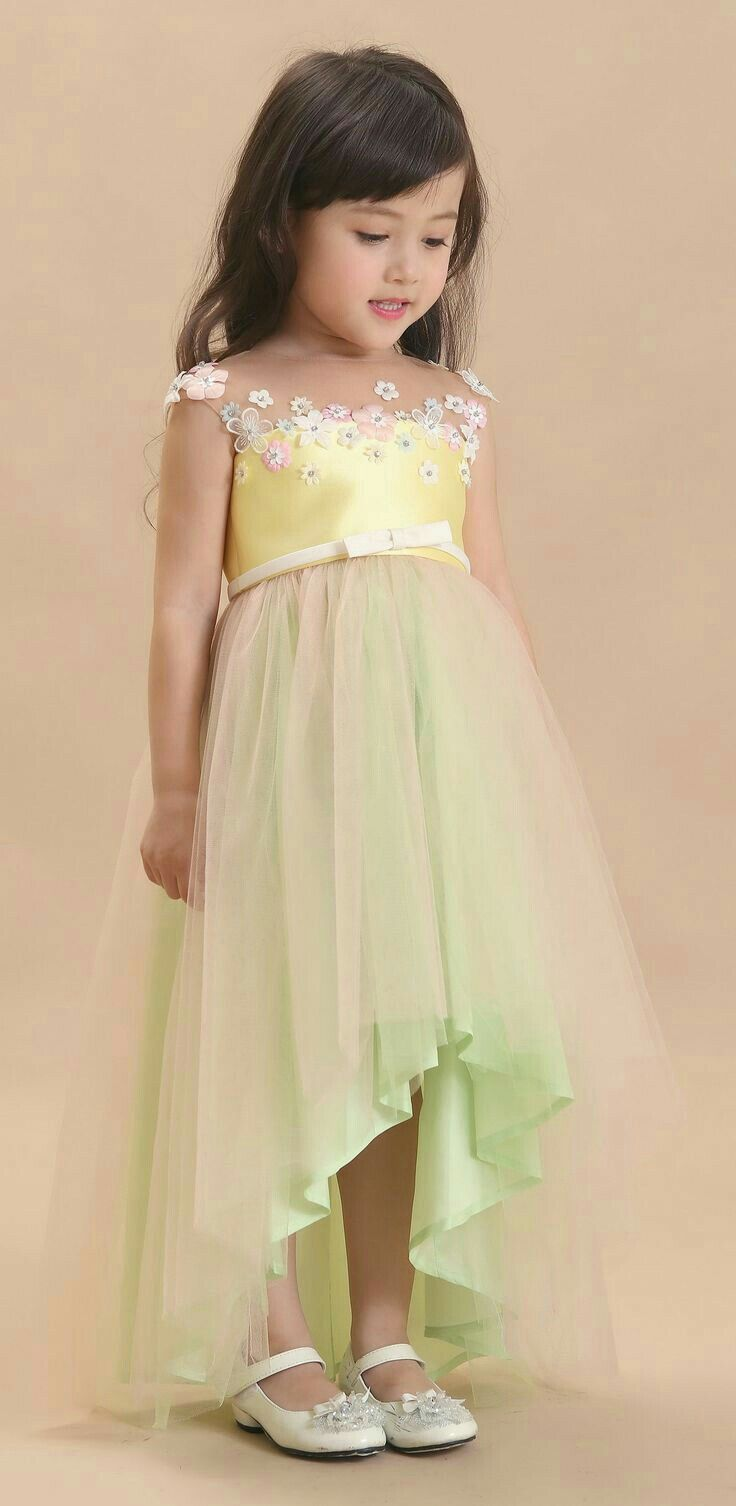 Flower girl high low dress  Wedding dresses for kids, Baby gowns
