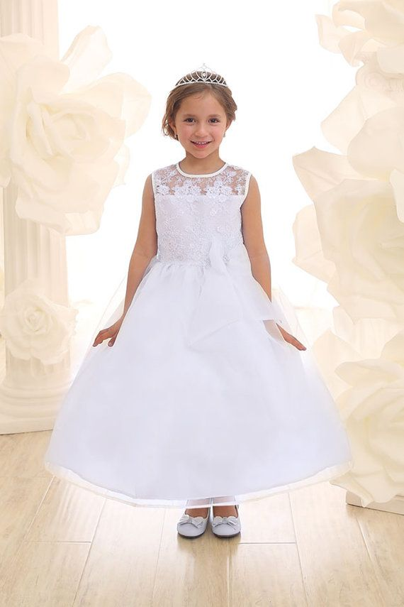 Flower girl dress snow white organza with sheer by creativecabral flower girl dress snow white organza with sheer by creativecabral mightylinksfo Gallery