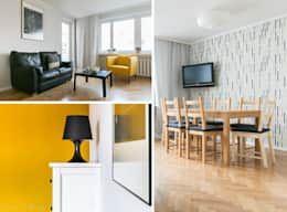 Minimalistische woonkamer door ideals interior design and living