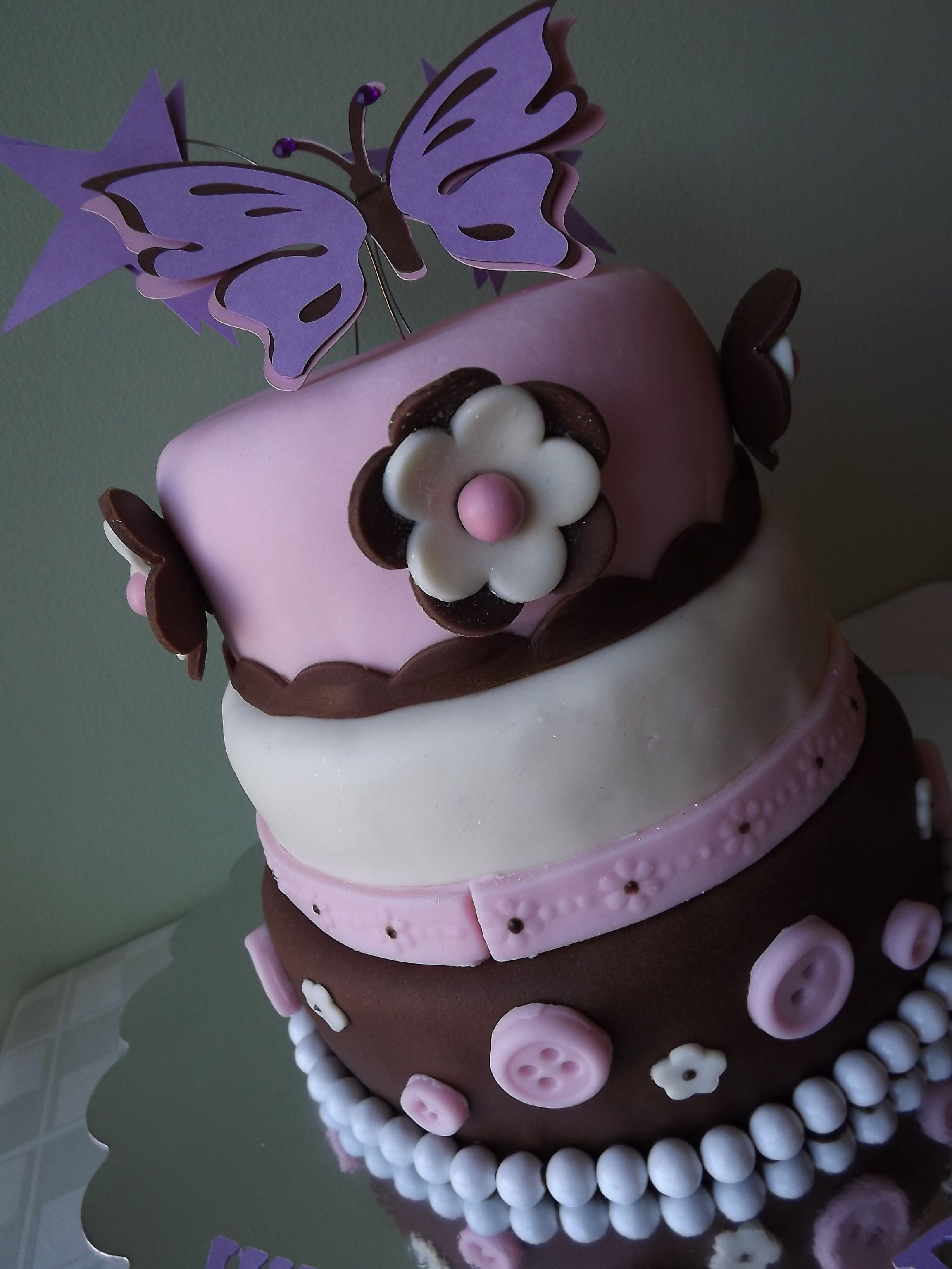 Baby girl cake baby shower mini cake baby girl