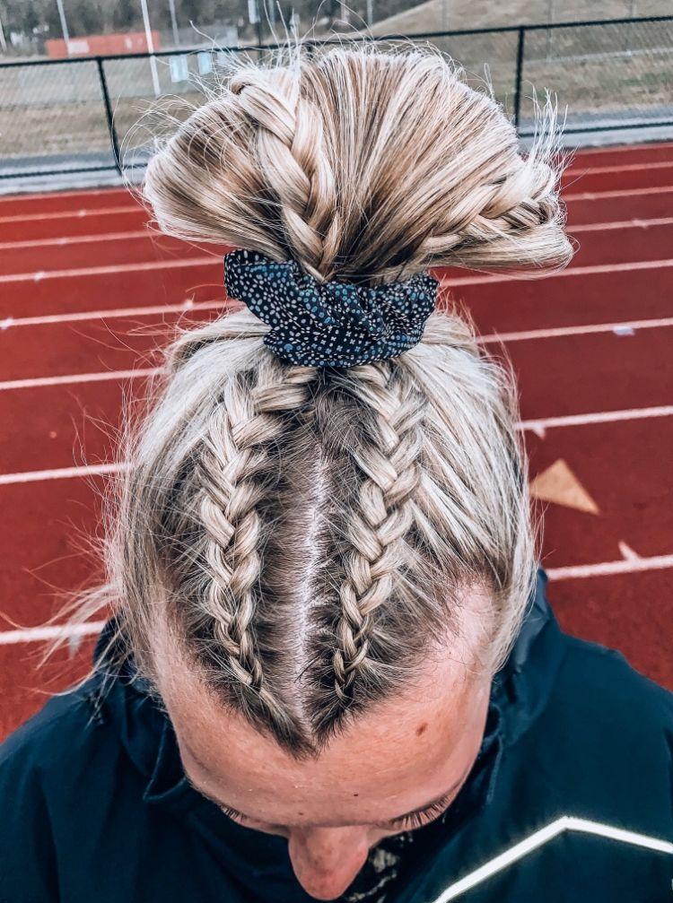 Pin By Anna On Hair Beauty Hair Styles Game Day Hair Cheer Hair