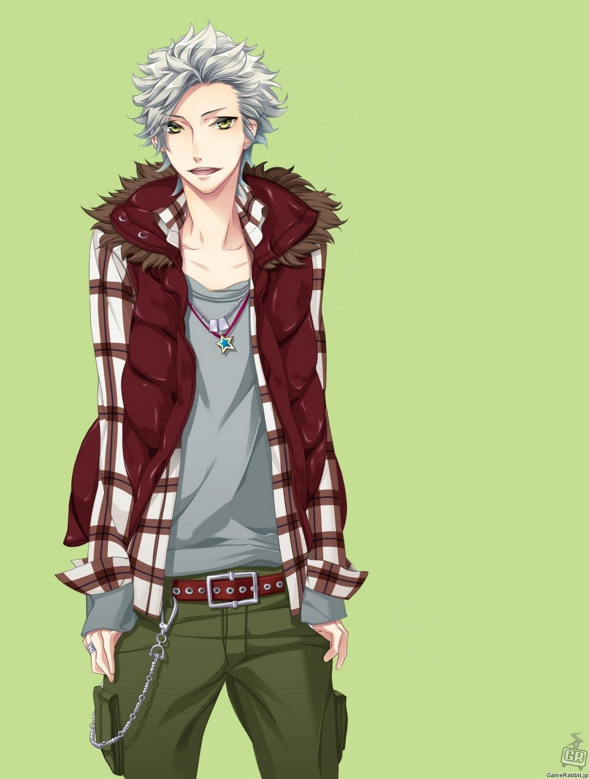 Guy with silver hair and golden eyes Anime, Cool anime guys