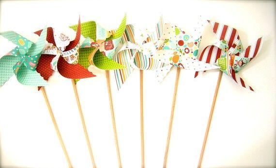 pinwheels..cute photo prop for kids :o)