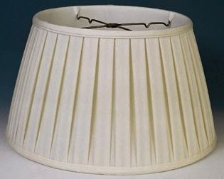 English Pleated Silk 6 Way Floor Lamp Shade Cream White 17 19 W