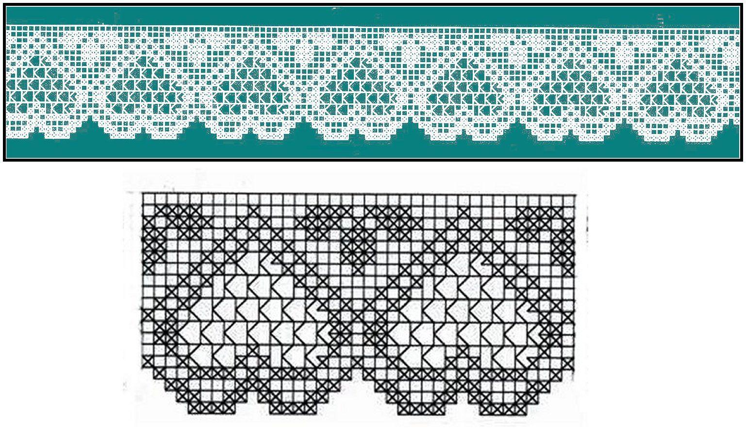 Miria croch s e pinturas barrados de croch com cora es for Merletti a uncinetto schemi