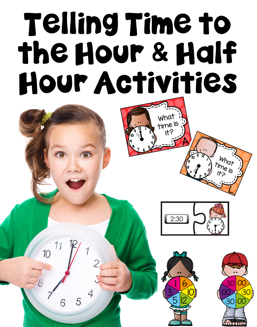 This Telling Time To The Hour And Half Hour Activity Pack