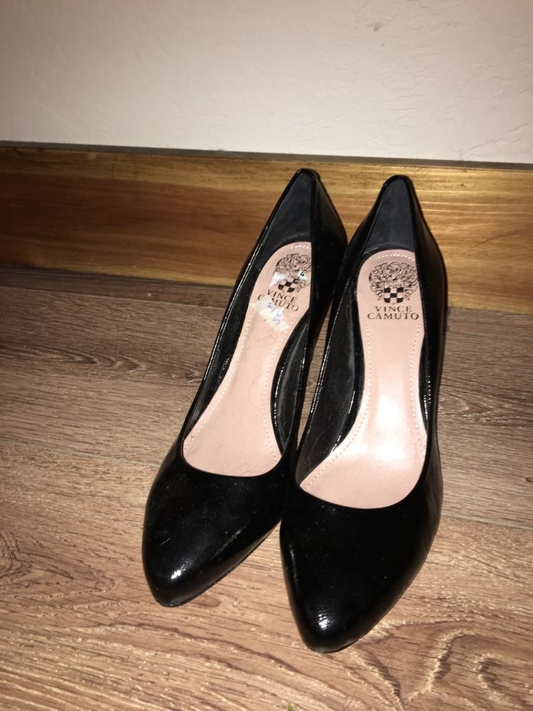 ed38957ecf Vince Camuto Womens Classic Patent Pebbled Heels Size 11 #fashion #clothing  #shoes #