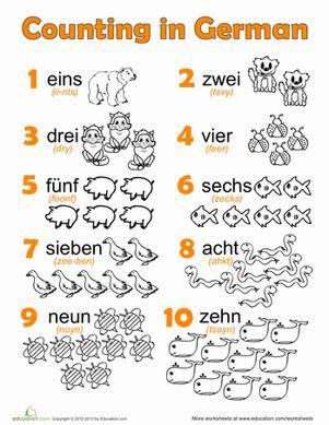 german numbers teach german to kids german language learning german language learn german. Black Bedroom Furniture Sets. Home Design Ideas