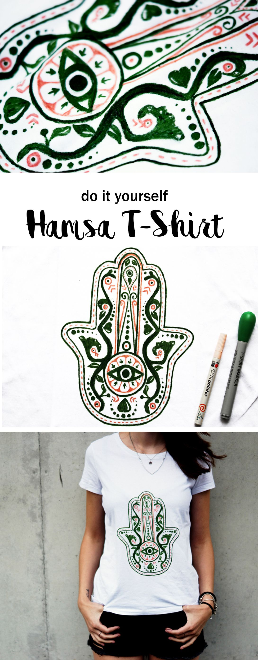 diy hamsa shirt f r vernetzteuch diy pinterest kleidung t shirt und shirts. Black Bedroom Furniture Sets. Home Design Ideas