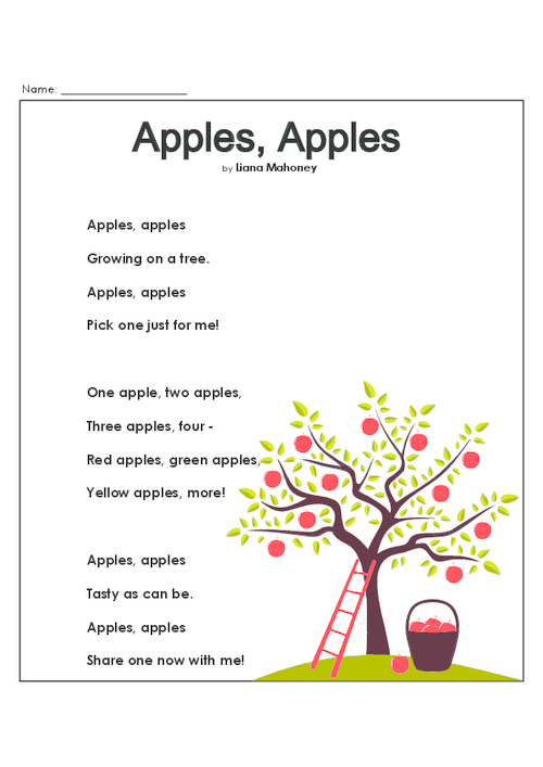 apples reading comprehension worksheets reading comprehension worksheets reading worksheets. Black Bedroom Furniture Sets. Home Design Ideas