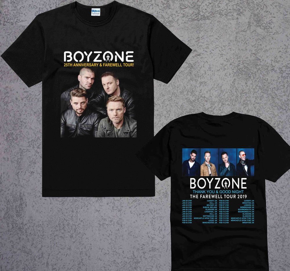 1162c57f1ee3 Boyzone Thank You   Goodnight Farewell Tour Dates 2019 black t-shirt Size  S-3XL  fashion  clothing  shoes  accessories  mensclothing  shirts (ebay  link)