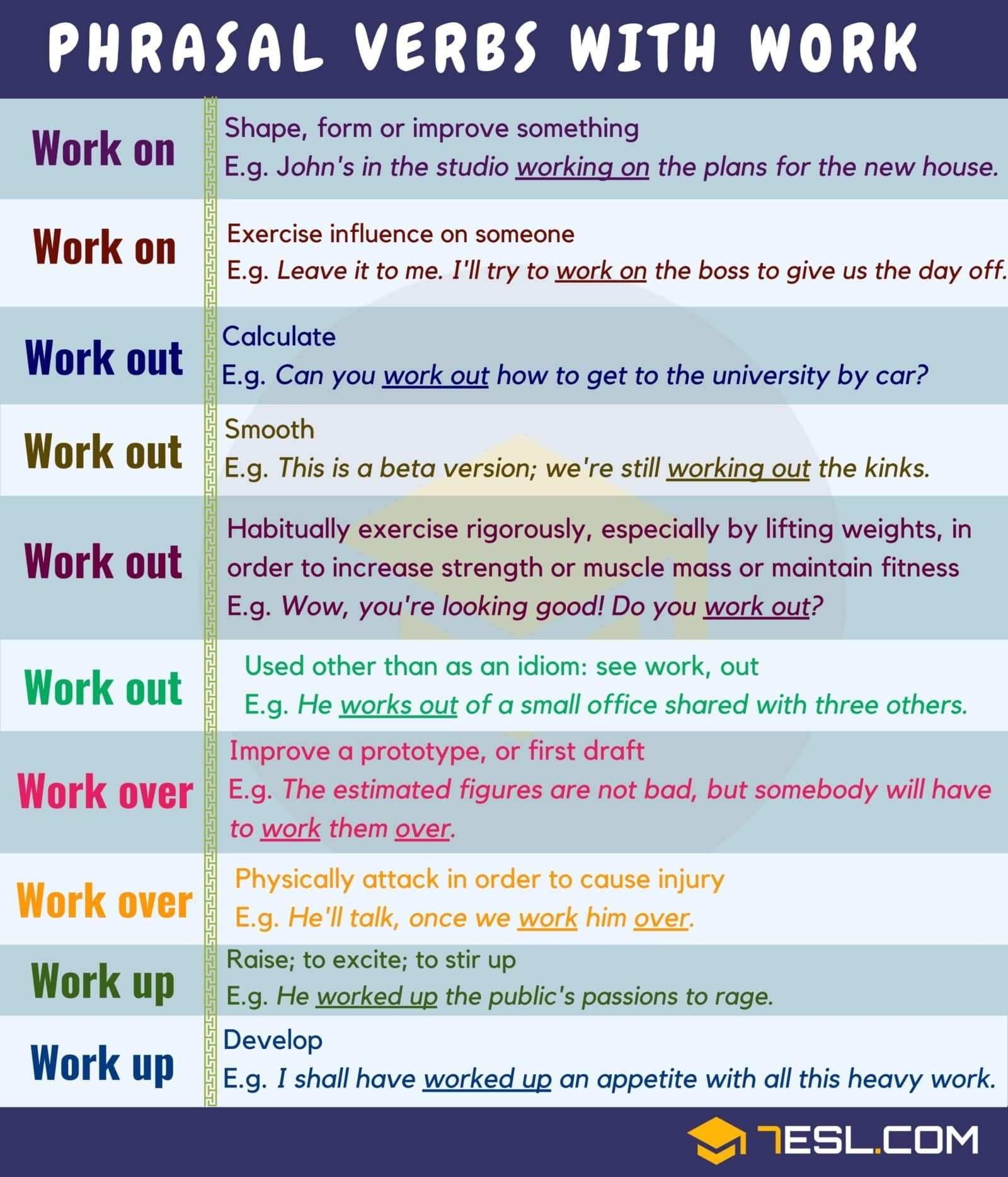 Common English Phrasal Verbs With Work You Should Know