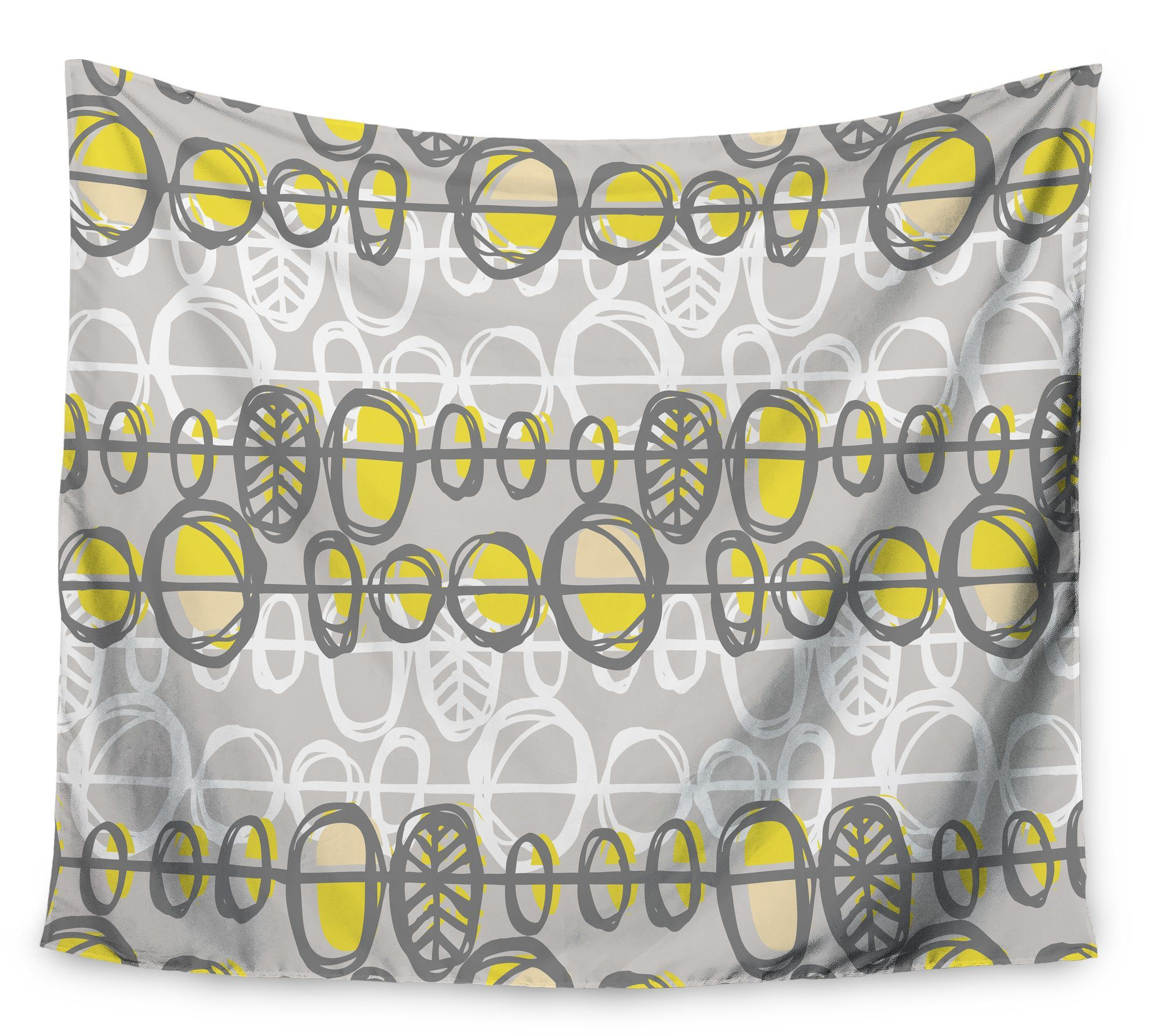 Benin Yellow Grey by Gill Eggleston Wall Tapestry