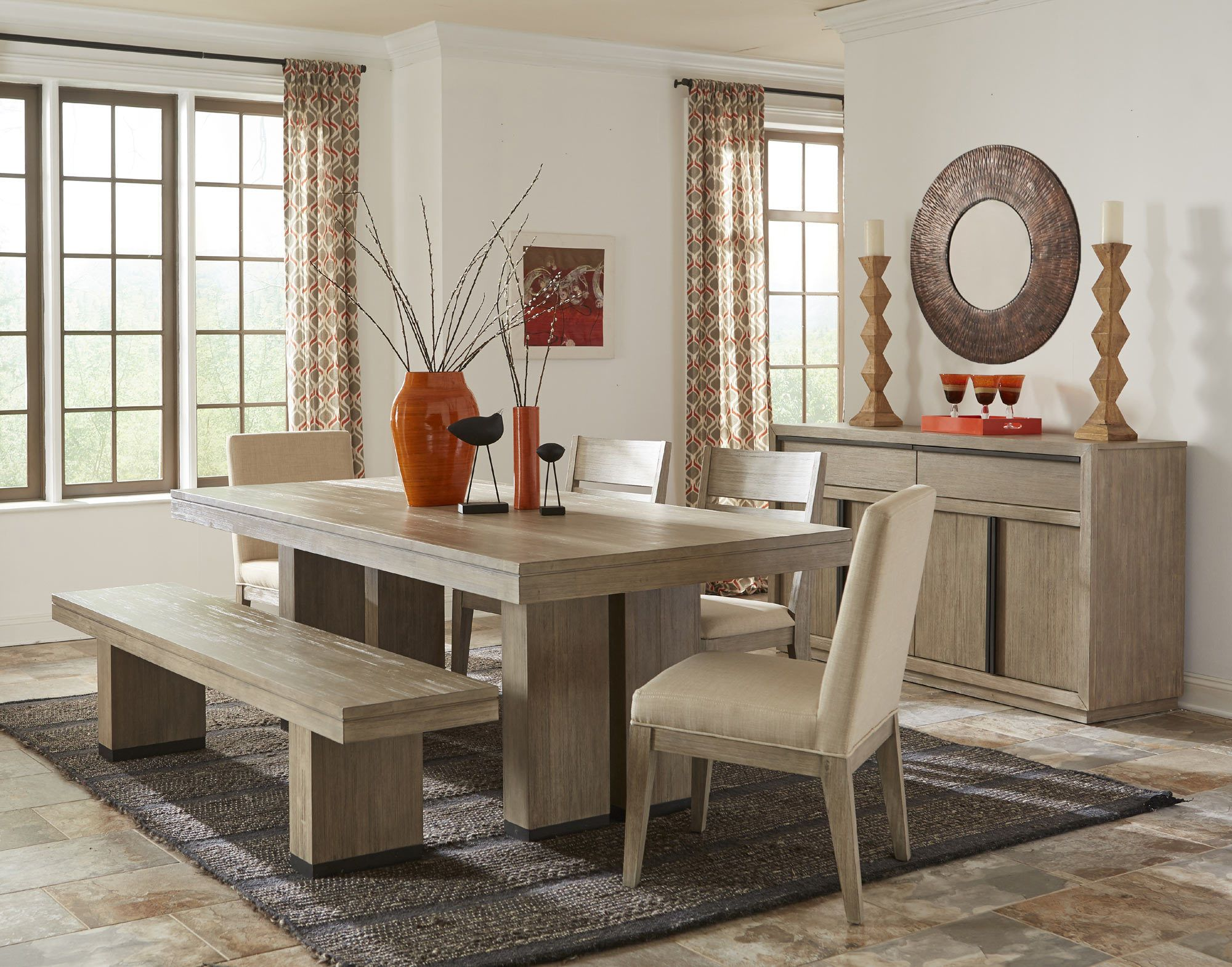 Larkspur Trestle Table Dining Room Set | Cresent Furniture | Home Gallery  Stores