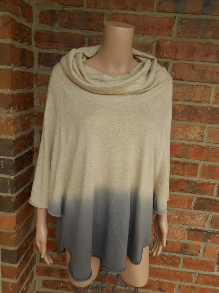 JOIE Ombre Celia Sweater Size S Cowl Neck 100% Cotton Style Q31-7736 Top Women #JOIE #CowlNeck