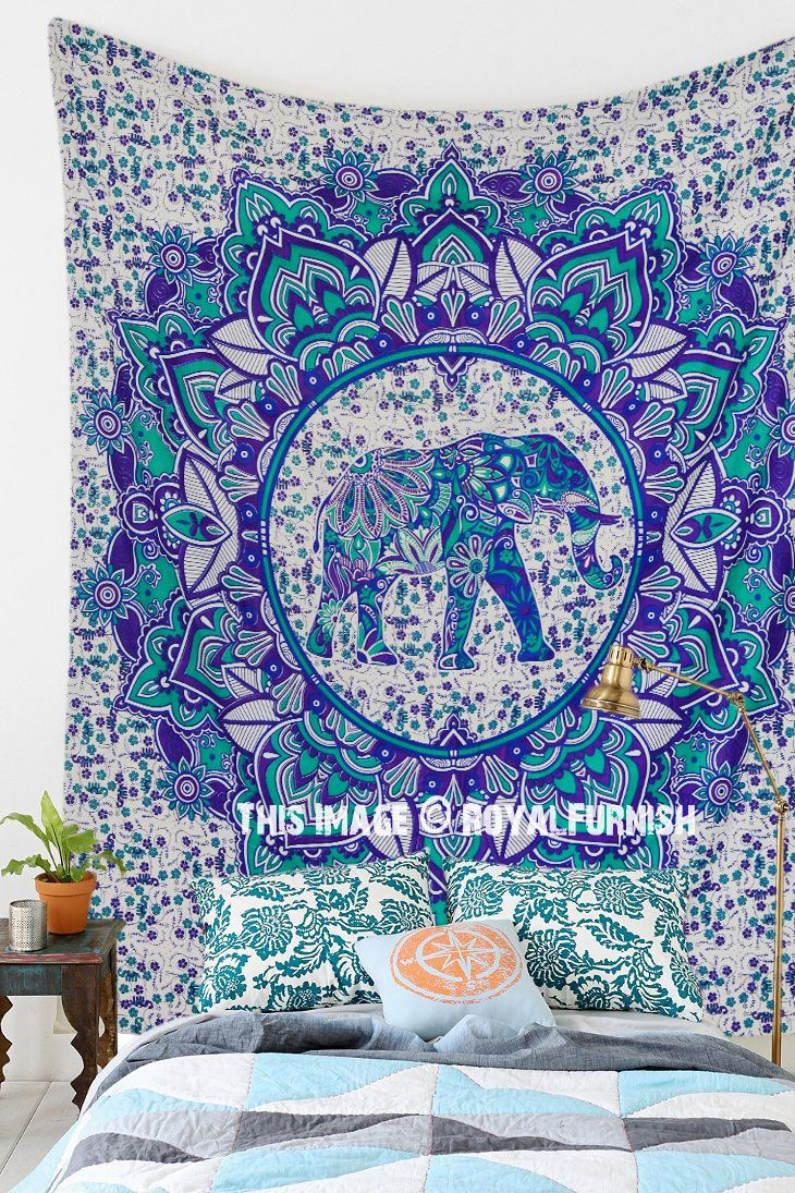 floral img blue india more buy tapestry medallion decorative elephant mandala colorful online views