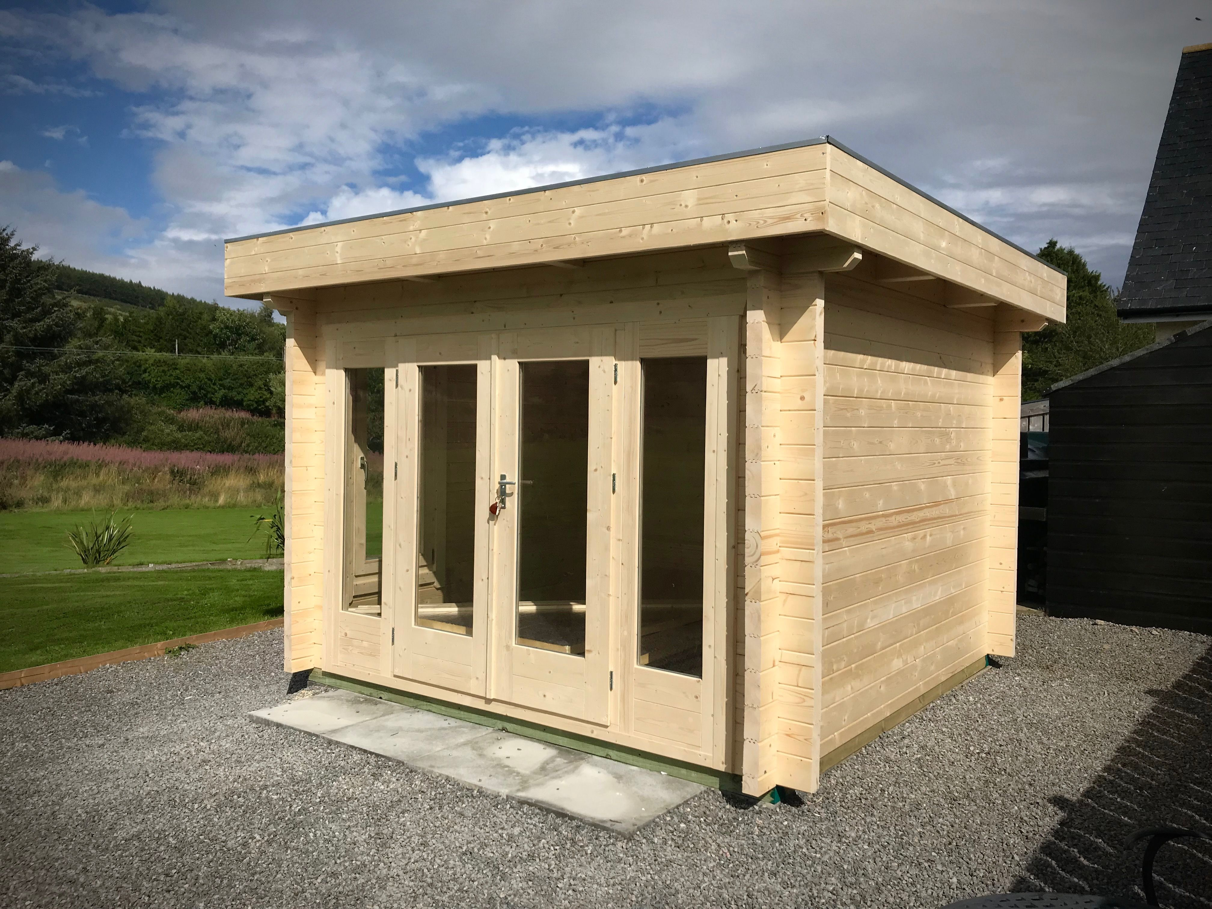 Best This Is A 3M X 3M Flat Roof Cabin Supplied In 70Mm With 640 x 480