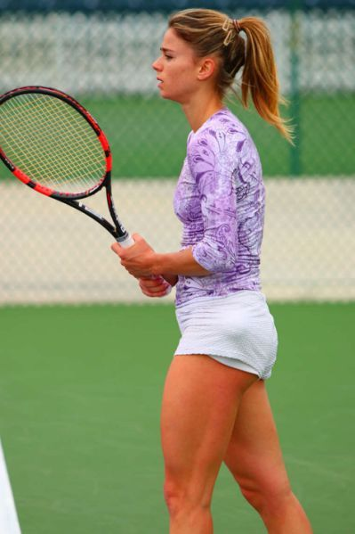 Camila Giorgi Practice Session Repost By Pulseroll The Leaders In Vibrating Training Recovery Product Camila Giorgi Tennis Players Female Beautiful Athletes