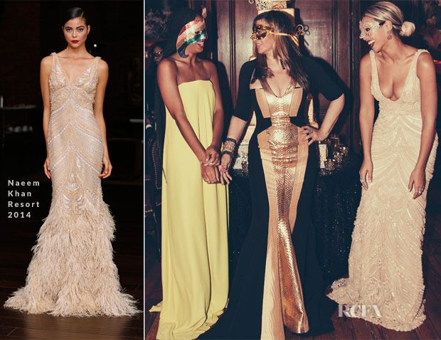 Beyonce Knowles In Naeem Khan – 60th Birthday Masquerade Party