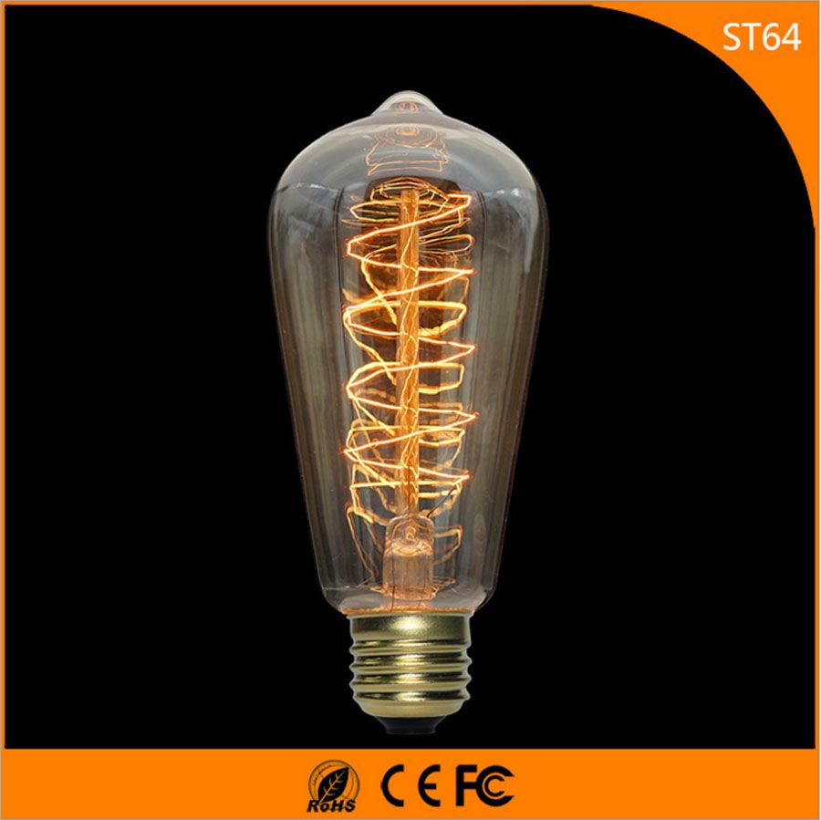50pcs Vintage Design Edison Filament E27 Led Bulb St64 40w Energy Saving Decoration Lamp Replace Incandescent L Edison Light Bulbs Incandescent Lighting Bulb